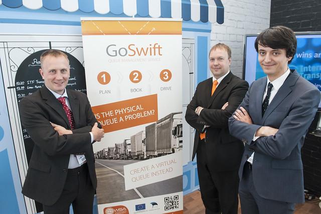 Hannes Plinte, Madis Sassiad and Sébastien Mure presenting