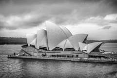 Opera House, Sydney by day (Jomak1) Tags: roof shells white house colour building art monochrome architecture modern point concrete design blackwhite opera day harbour centre performing arts cream large culture australia international national tiles sphere april editorial feature matte syndey bennelong 2015 precast expressionalist jomak1 gloissy