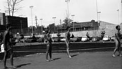 Wait for it (fillzees) Tags: boy people bw game girl sport court team ut outdoor candid bikini ballgame volleyball shorts swimsuit swimwear