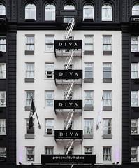 Hotel Diva not in B&W (PJMixer) Tags: sanfrancisco california architecture hotel fireescape fugi