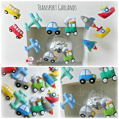 transport garlands (heartfelthandmade) Tags: blue red green cars boys yellow boats bedroom colours handmade space ships nursery airplanes transport banner trains felt garland vehicles planes theme rockets primary bunting heartfelthandmade