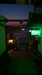 Small town nightlife on Crete, Greece (redmartin_71) Tags: travel sunset sea vacation bar landscape fun greece crete nightlife