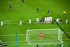 KIRIN CHALLENGE CUP2015 (mayor_of_clutch0625) Tags: cup japan football nikon soccer iraq  yokohama kirin   2015 samuraiblue       challege  d700  samuraijapan