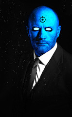 Dr Manhattan (Donald Palansky Photography) Tags: me sony alpha thewatchmen dccomics sonyslta99v strobe strobist alienbees offcameraflash blue donaldpalansky