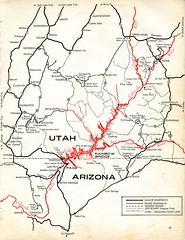 [ARIZONA-A2-0002] Lake Powell Vacationland (waterarchives) Tags: utah arizona glencanyondam coloradoriver lakepowell map