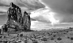 Courthouse Rock, Arches NP (AndyCardImages) Tags: landscape utah archesnationalpark nationalparks geological geographicrockformations