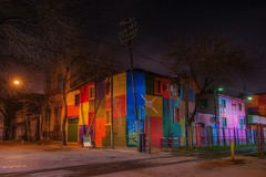 La Boca, Buenos Aires (karinavera) Tags: travel nikond5300 colors houses street laboca longexposure urbanexploration night city buenosaires argentina colorful riodelaplata old barrio wallart art wall exploration urban caminito multicolor view