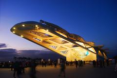 Museu do Amanh (natan_fl) Tags: night art museum light city blue flickr rio olympic