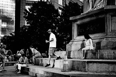 July 23, 2016 --639-141 (The_NJCPhotos) Tags: street streetphoto decisive decisivemoment step ny new york nyc city newyorkcity timessquare square time times bw black white blackandwhite