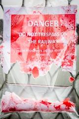 Trespass (deltic17) Tags: trespass danger railway drip water damage