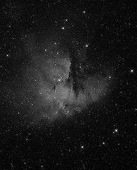 NGC281 - The Packman Nebula (BW) (CSky65) Tags: sky outdoor night stars nebula nebulae cassiopeia circumpolar astrominages astrophotography colors packman ngc281 ngc barnard hii orion atlas sbig nebulosity ccdstack photoshop astronomy starry nights eqmod