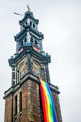 Westerkerk, Amsterdam (gavcreaney) Tags: tower building holland parade europride pride lgbt clock church westerkerk amsterdam