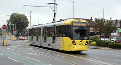 METROLINK 3086 leaving Barlow Moor Rd stop. (Barrytaxi) Tags: 365 photoaday photoblog manchester metrolink tram
