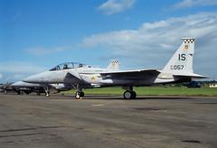 ALAN_POTTS_19870530_0007 (Spuggs) Tags: ayr ayrshire uk gbr glasgowprestwickairport prestwickairport hmsgannet pik egpk prestwickairshow airshow 800057is mcdonnelldouglasf15deagle eagle f15d 57fis usaf unitedstatesairforce keflavik jet aircraft military hasselbladx5