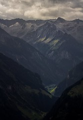 light comes into the darkest valley (Marcus Rahm) Tags: zillertal zillertaleralpen alpen alps tal light landscape landschaft sterreich austria europa europe berge berg bergwelt mountain mountains clouds cloudy holiday holidays summer