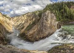 Lower Yellowstone Falls, an unusual angle (E.K.111) Tags: waterfall yellowstone river water clouds outdoor nature nationalpark wilderness canon5dmarkiii lightroom6 panorama pano ptgui