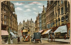 Brompton Road London postcard (The Wright Archive) Tags: brompton road london vintage postcard hand coloured published by charles martin 1904 edwardian 1905 horse drawn bus old street scene cars horses wright archive