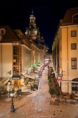 Dresden, 11.21 pm (Antoni Figueras) Tags: dresden saxony germany deutschland frauenkirche kreuzkirche mnzgasse night blending longexposure sonya77ii cz1680