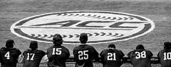 Losing Hope (cwhitted) Tags: blackandwhite bw blackwhite acc baseball samsung vt bulldurham virginiatech dbap collegebaseball durhambullsathleticpark nx30 accbaseballtournament samsungnx30 samsungnx50200mmf456