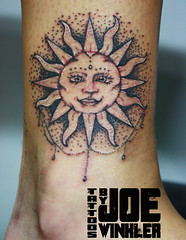 Fun #stippled #suntattoo on the ankle! #ARTbyjoewinkler #eliteinktattoos #myrtlebeach (artbyjoewinkler) Tags: myrtlebeach stippled suntattoo artbyjoewinkler eliteinktattoos