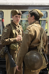 Home Guard (Sue_Hutton) Tags: summer uniform streetphotography greatcentralrailway homeguard worldwar2day june2015