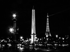 patrickrancoule-273 (Patrick RANCOULE) Tags: paris france place noiretblanc concorde lumires oblisque gypte louxor rverbres touteiffel