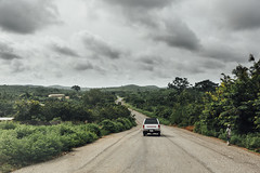 Road (bassvolumetreble) Tags: nikon d810 2470 2470mm f28 ghana africa travel drive driving drivingroad cloud clouds cloudscape cloudy winding rural countryside toyota hilux