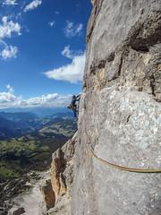 Sass dla Crusc, via Messner al Pilastro di Mezzo (-samuel-) Tags: sassdlacrusc pilastrodimezzo viamessner dolomiti rockclimbing arrampicata alpinismo git2 gitup actioncam badia