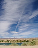 X Marks the Spot (PhotonVulture) Tags: laughlin nevada samsungnx300 samsung nx300 xmarksthespot x marks spot airplane trails river desert clouds blue sky