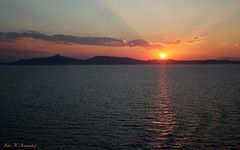 Sunset, Greece     Explored 31.8.2016 (K. Haagestad) Tags: sunset ocean greekislands greece atsea cruise evening