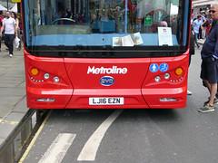 ML BYD1472 - LJ16EZN - LOWER FRONT - REGENT STREET - SUN 3RD JULY 2016 (Bexleybus) Tags: street bus buses festival by design july 98 led route your dreams regent tfl 2016 metroline byd duild elrctric comfortdelgro k8sr lj16ezn byd1472