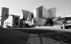 Frank Gehry (Phoebus58) Tags: california blackandwhite art architecture design losangeles olympus gehry frankgehry waltdisneyconcerthall