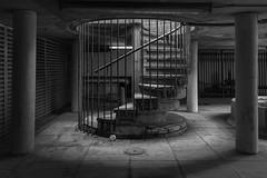 Caged Stair (scarlet-pimp) Tags: londonist timeoutlondon spiral london alexandraandainsworthestate architecture brutalist spiralstaircase mono alexandraroadestate brutalistarchitecture blackandwhite monochrome brutalism