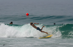Zuma JG: JUL_5218 (Kevin MG) Tags: usa losangeles malibu water ocean sand lifeguard juniorlifeguard jumping diving surfboard surfing surfer man teen young youth beach shore shoreline california zumabeach zuma