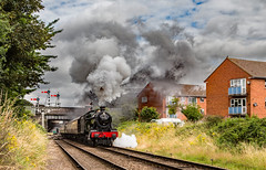 10.15 gets on it's way (Peter Leigh50) Tags: smoke steam locomotive engine train loughborough great central railway gcr 6990 witherslack hall class