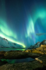 Winter is coming (tryggstrand) Tags: troms beautiful awesome darksky stars lights vertical arctic fjord reflections sea mountains cloud sky night north tamron longexposure flickr nikon winter norway auroraborealis northernlights