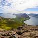 Blick vom Villingadalsfjall auf Viðareiði