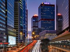Sheung Wan, Hong Kong (mikemikecat) Tags: sheungwan hong kong   olympusomd geometry cityscapes street house hongkong building nightview night       evening       olympus housing lumix twilight nostalgia colorful lighttrails   sunset mikemikecat shun tak shuntakcentre    hdr livecomposite