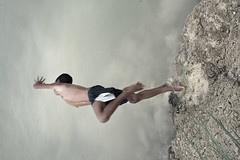 (briyen) Tags: boy sky pool swim pond mud dive dream poetic reach leap icm iloilo 2015