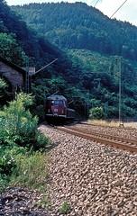 456 107  Neckargerach  24.07.78 (w. + h. brutzer) Tags: analog train germany deutschland nikon eisenbahn railway zug trains db 456 eisenbahnen triebwagen neckargerach triebzug et56 triebzge webru