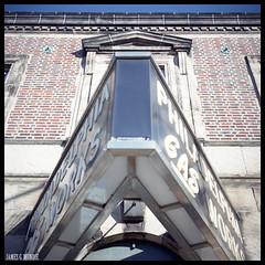 Philadelphia Gas Works (James Mundie) Tags: jamesmundie jamesgmundie profjasmundie jimmundie mundie copyrightjamesgmundieallrightsreserved copyrightprotected mediumformat squareformat 120film 6x6 film analog mittelformat yashicaa tlr twinlensreflex