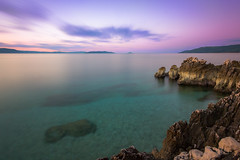 Dobro jutro (zachary_rip) Tags: rabac istarskaupanija croatia istria sunrise morning hrvatska longexposure purple canon 550d europe water balkans travel