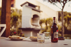 BBQ Prep (thethomsn) Tags: bbq prep preparations grill summer faded outdoors holiday beer table garden dof sigma30mm14 bokeh focus barbecue bottle glass italy stillphotography