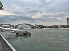View along the Rhine (julius_agricola35) Tags: rhine cologne koln bridge germany
