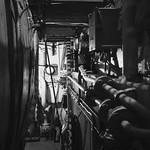 along the boiler