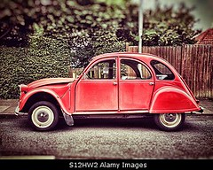 Uploaded to Stockimo (oohay!) Tags: stockimo citroen car red 2cv hippy french classic deux chevaux