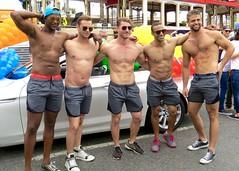 IMG_6014 (danimaniacs) Tags: gay pride parade losangeles westhollywood hot sexy man guy shirtless hunk beard scruff hat cap smile armpit