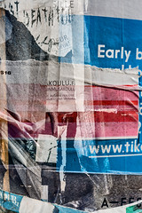 Early B (pni) Tags: poster text writing surface multiexposure multipleexposure tripleexposure helsinki helsingfors finland suomi pekkanikrus skrubu pni