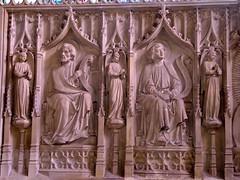 Newbury, St Nicolas Church (Glass Angel) Tags: newburystnicolaschurch englandsthousandbestchurches simonjenkins niniancomper reredos