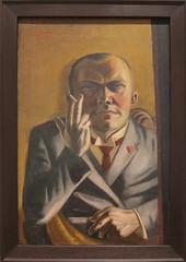Max Beckmann, Self-Portrait with a Cigarette, 1923 (Sharon Mollerus) Tags: museumofmodernart newyork unitedstates